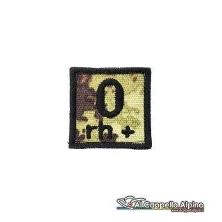 Tope0039 Patch Gruppo Sanguigno Esercito Italiano 0 Rh Positivo Vegetato