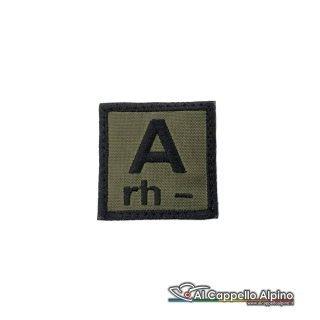 Tope0039 Patch Gruppo Sanguigno Esercito Italiano A Rh Negativo Od