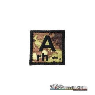 Tope0039 Patch Gruppo Sanguigno Esercito Italiano A Rh Negativo Vegetato