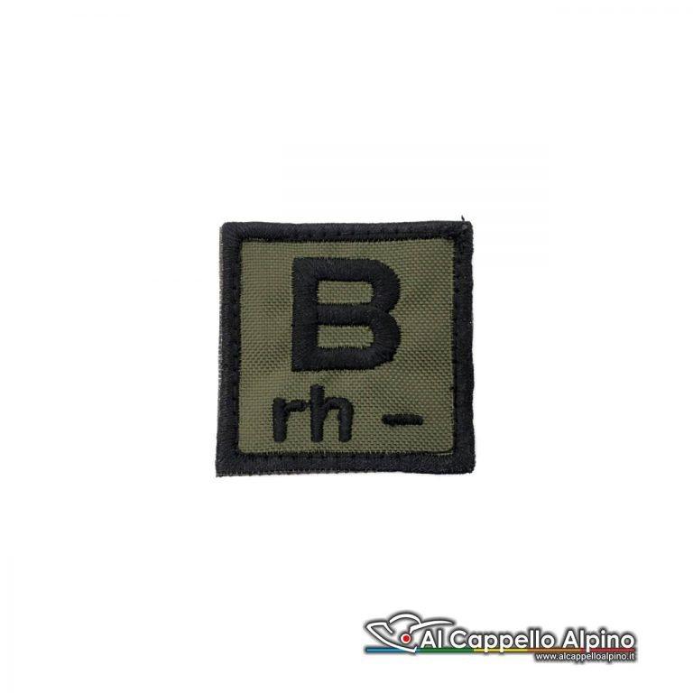 Tope0039 Patch Gruppo Sanguigno Esercito Italiano B Rh Negativo Od