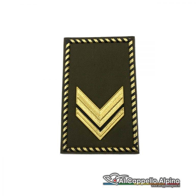 Grado Sergente Esercito Italiano Tubolare Coppia Pvc Od Alta Visibilita
