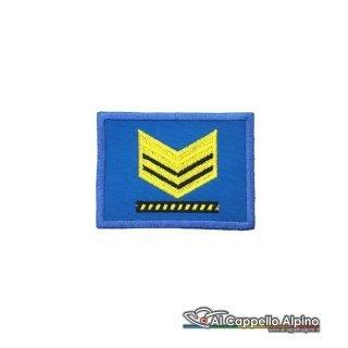 Grado Sergente Maggiore Capo Esercito Italiano Scratch Blu Alta Visibilita