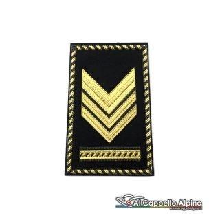 Grado Sergente Maggiore Capo Esercito Italiano Tubolare Coppia Pvc Nero Bassa Visibilita