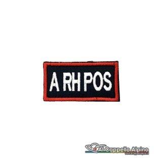 Tope0040 Patch Gruppo Sanguigno Carabinieri A Rh Positivo
