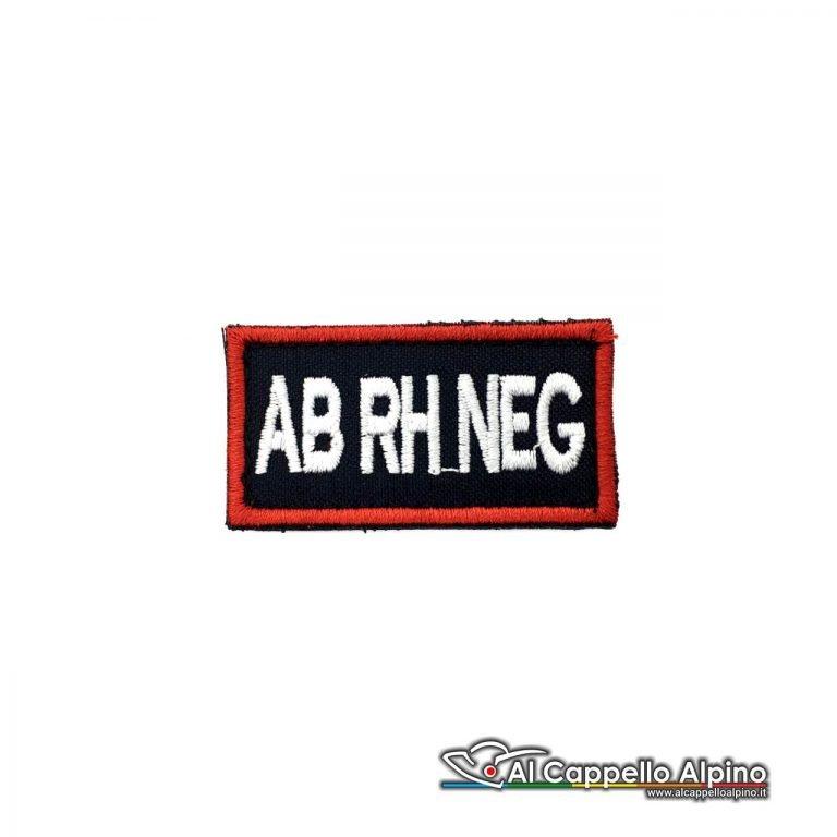 Tope0040 Patch Gruppo Sanguigno Carabinieri Ab Rh Negativo