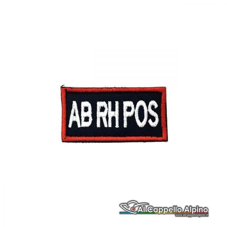 Tope0040 Patch Gruppo Sanguigno Carabinieri Ab Rh Positivo