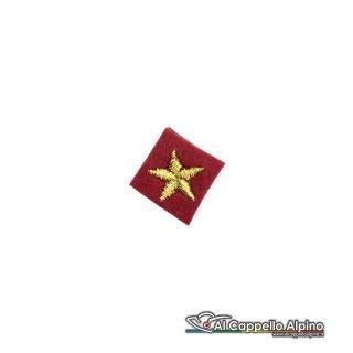 St0011 Stella Dorata Fondo Rosso 1cm