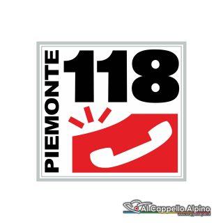 Ad1180001 Adesivo 118 Piemonte Esterno