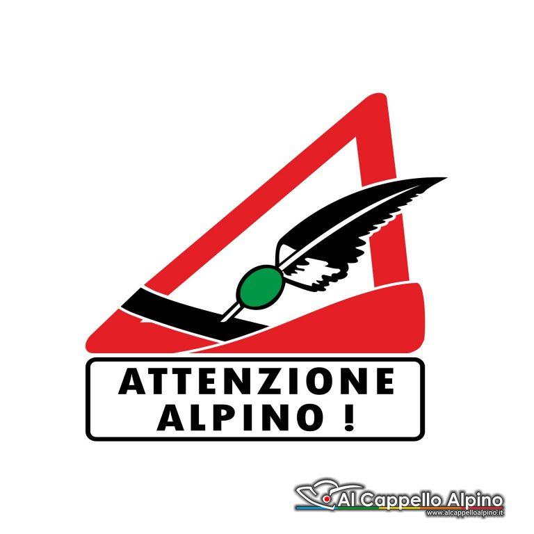 Adalp0012 Adesivo Attenzione Alpino Esterno