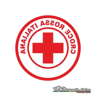 Adcri0001 Adesivo Croce Rossa Italiana Interno