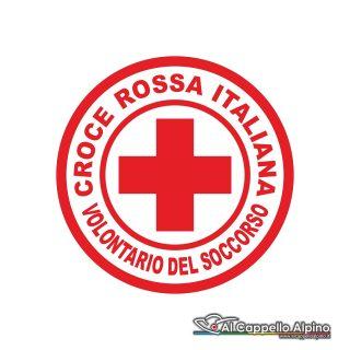 Adcri0003 Adesivo Croce Rossa Italiana Volontario Esterno