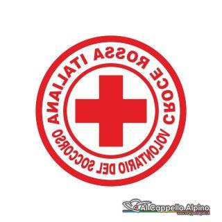 Adcri0003 Adesivo Croce Rossa Italiana Volontario Interno