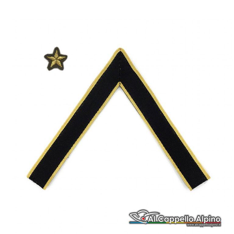 Aut0033 Magg Qs Gallone Sergente Maggiore Qualifica Speciale Cappello Alpino