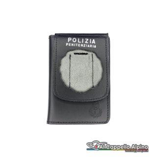 1WD/10-Portatessera portafoglio Polizia Penitenziaria (Senza Placca)