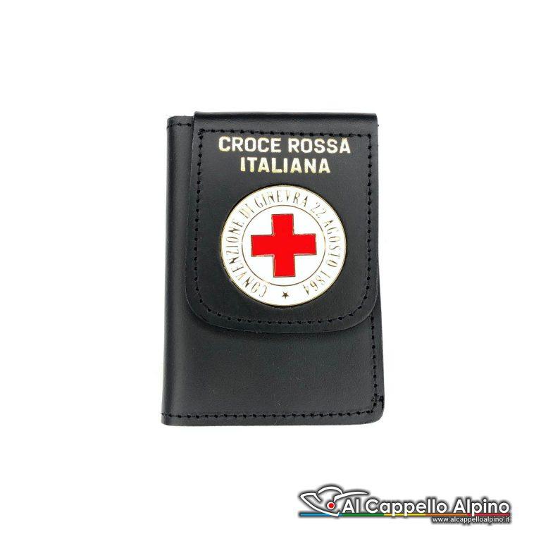 1WD/140-Portatessera portafoglio Croce Rossa (Convenzione di Ginevra)