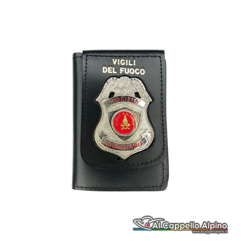 1WD/39-Portatessera portafoglio Vigili del Fuoco - Polizia Giudiziaria
