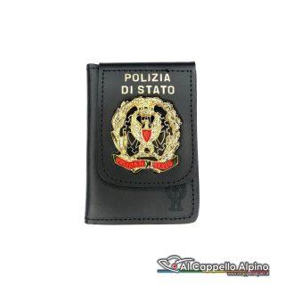 1WD/49-Portatessera portafoglio Polizia di Stato