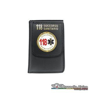 1WD/55-Portatessera portafoglio 118 Soccorso Sanitario
