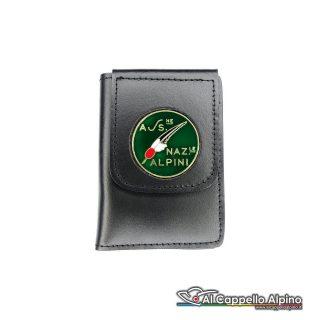 1WD/80-Portatessera portafoglio Associazione Nazionale Alpini
