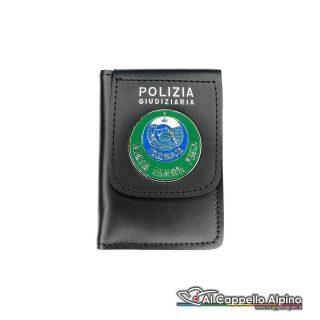 1WD/82-Portatessera portafoglio Guardia Giurata Pesca
