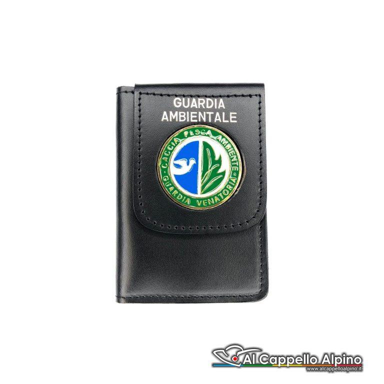 1WD/95-Portatessera portafoglio Polizia Ambientale - Caccia e Pesca