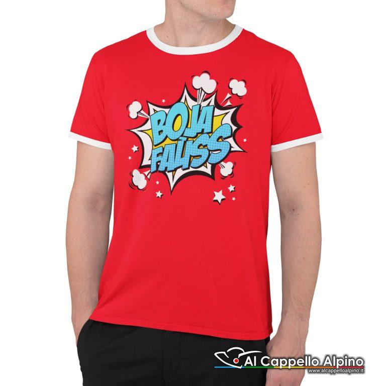 Act0100 T Shirt Boja Fauss Rosso