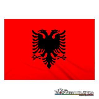 Bandiera Albania realizzata in poliestere leggero