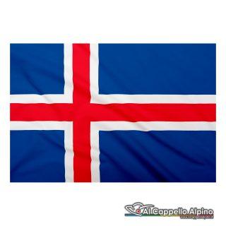 Bandiera Islanda realizzata in poliestere leggero