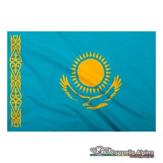 Bandiera Kazakistan realizzata in poliestere leggero