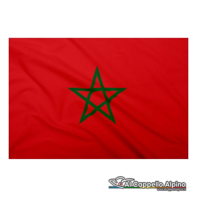 Bandiera Marocco realizzata in poliestere leggero