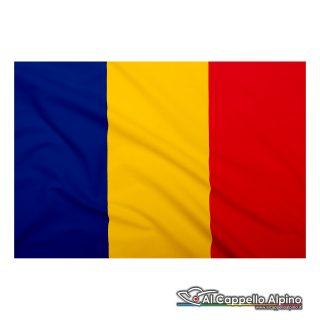 Bandiera Romania realizzata in poliestere leggero