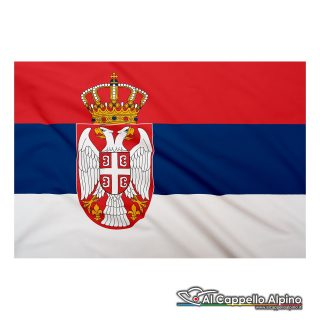 Bandiera Serbia realizzata in poliestere leggero