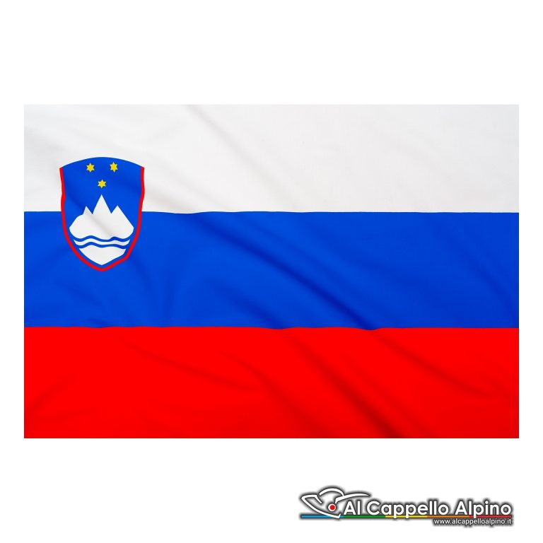 Bandiera Slovenia realizzata in poliestere leggero