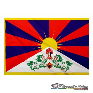 Bandiera Tibet realizzata in poliestere leggero