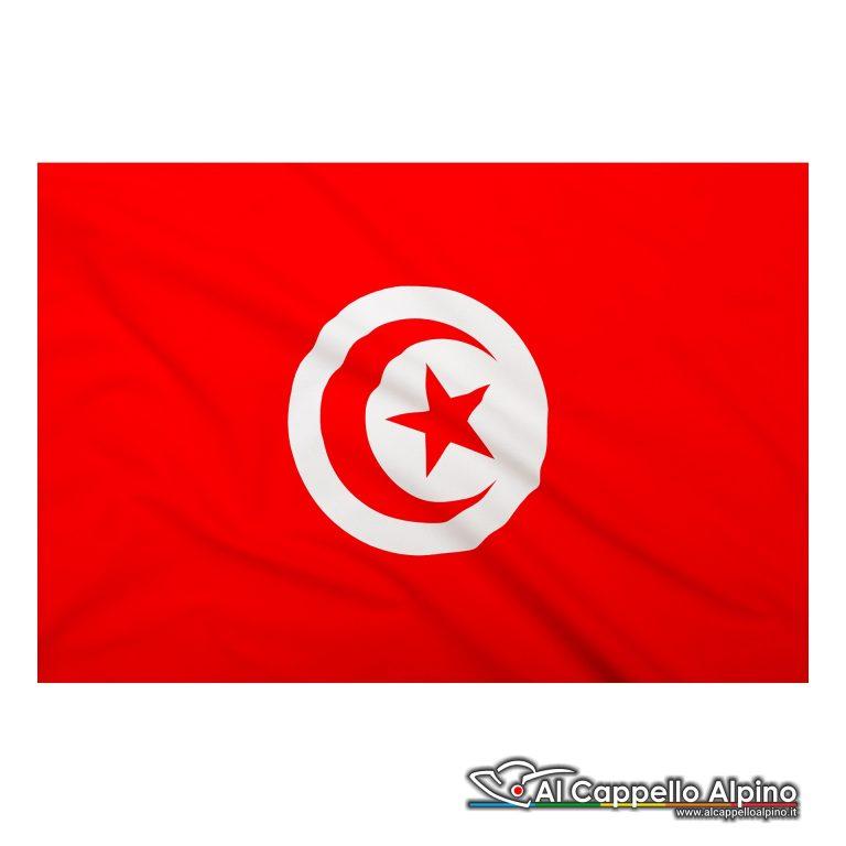 Bandiera Tunisia realizzata in poliestere leggero