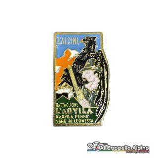 100 28 Distintivo Battaglione Alpini Laquila Anteguerra 1940