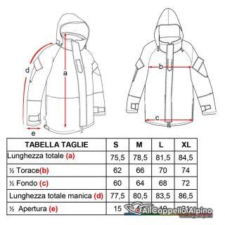 3113 Taglie Parka Impermeabile Traspirante 2 Cappucci Con Liner Gen Ii Sbb Vegetato