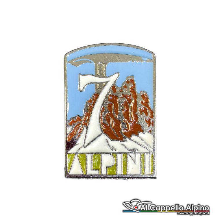 66 14 Distintivo 7 Reggimento Alpini Anteguerra 1939