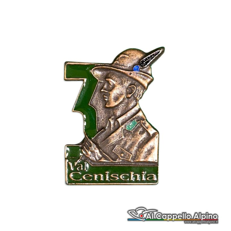 129 6 Distintivo Battaglione Alpini Val Cenischia Anteguerra 1940